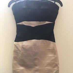 Strapless Bebe dress
